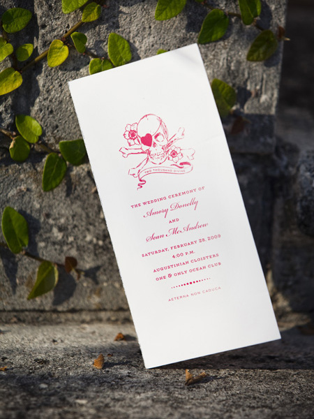 ADominickEvents_SkullandCrossbone_WeddingProgram