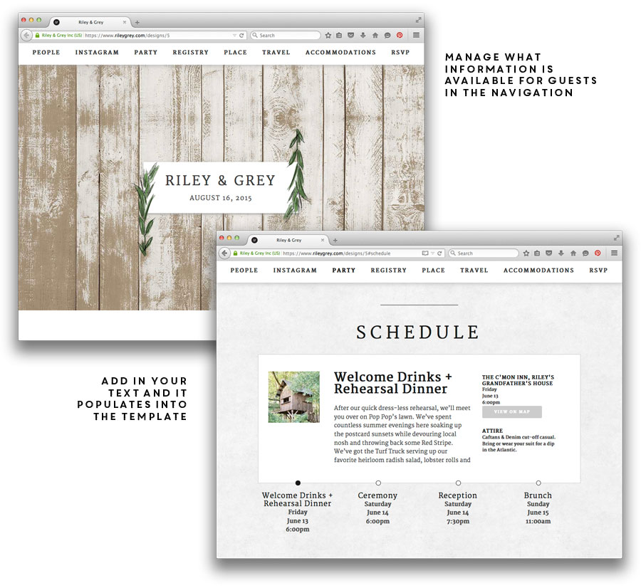 wedding websites top 4 things to include a dominick events