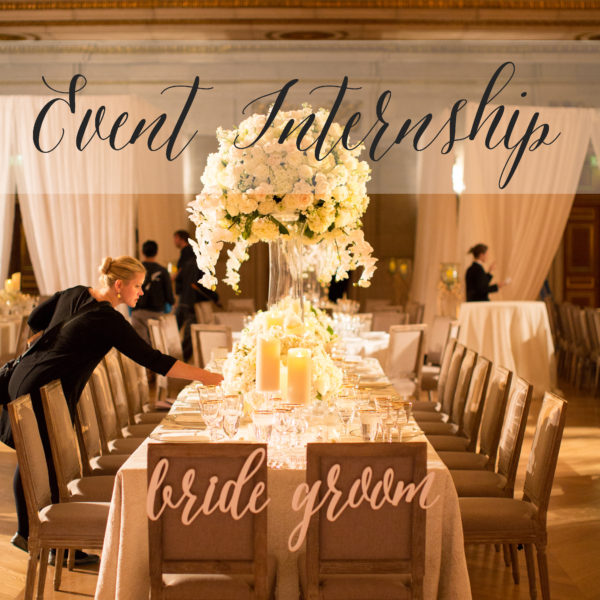 Wedding and event planning tips and tricks a dominick for Wedding planning internships
