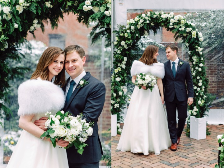 Decatur House Reception, Tented Wedding, Washington DC Wedding, Floral Arch