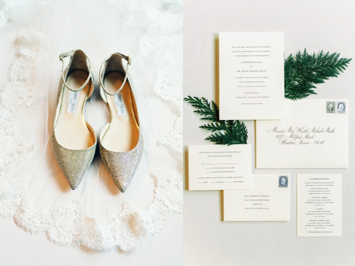 Winter Wedding- Wedding Invitations Inspiration, Jimmy Choo wedding shoe flats