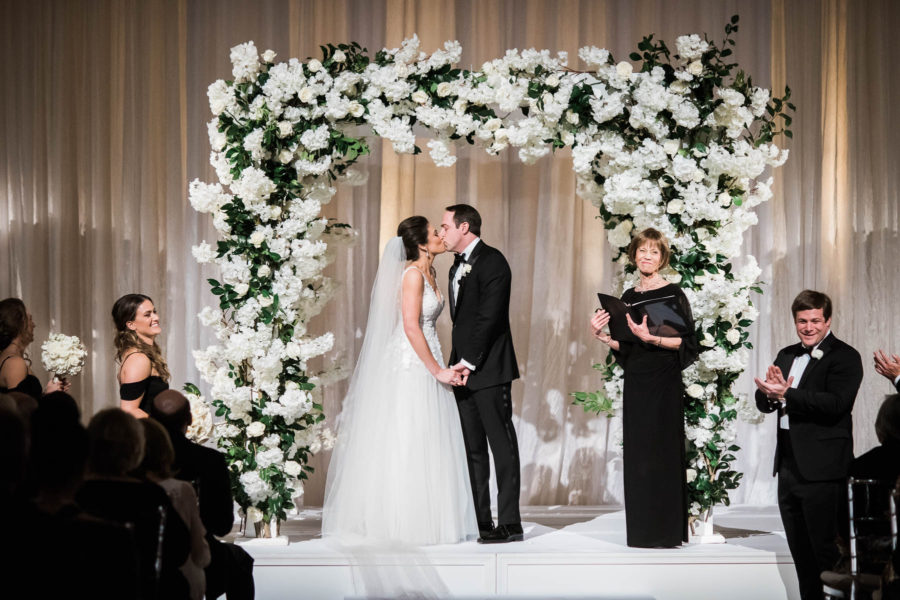 Classic Black Tie Wedding Ceremony Eli Turner, A. Dominick Events Wedding Planner, DC Wedding