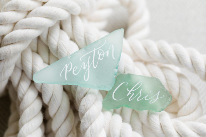 Sea Glass Place Cards - Destination Wedding Planner