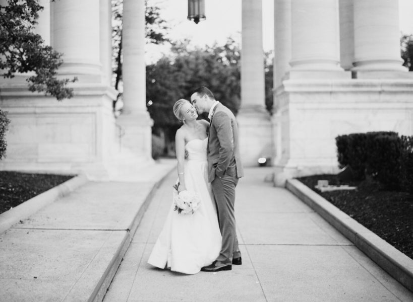 Classic and Timeless DC Wedding at Daughters of the Revolution. Black and White Photography. A. Dominick Events. Abby Grace Photography