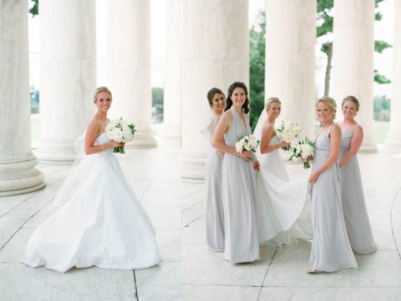 Classic and Traditional DC Wedding. A. Dominick Events. Wedding Portraits Jefferson Memorial, Abby Grace Photography