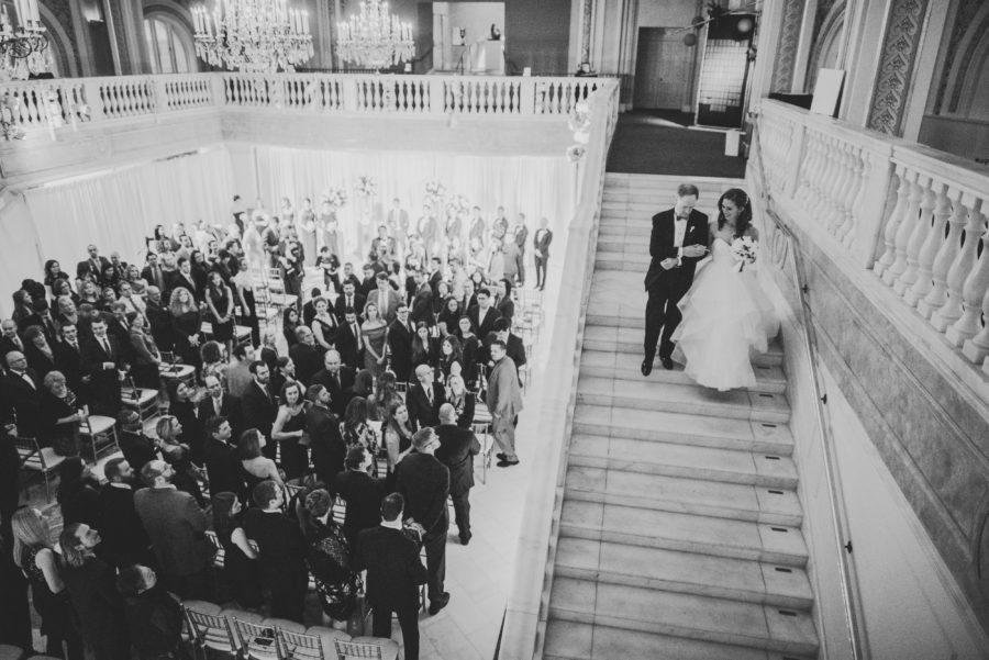 National Museum of Women in the Arts Wedding. Bridal Entrance, Wedding Reception. Sam Hurd Photography